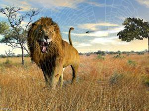 le lion et le moucheron
